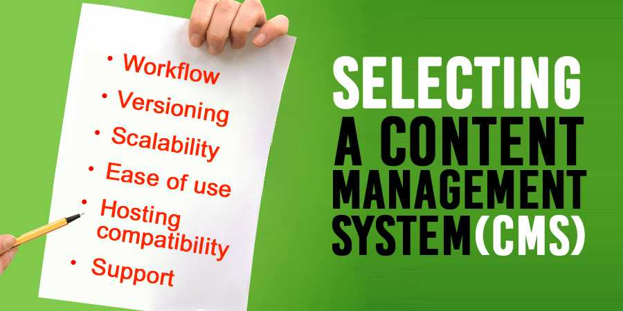 Arnima Selecting A Content Management System
